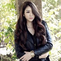 65CM Womens Long Wavy Wig High Temperature Fiber Middle Parting Hair For Daily Use