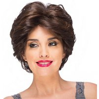 24CM Classic Short Wavy Wig Natural Curly Synthetic Fiber Hair