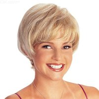 25CM Stylish Natural Wavy Wig Short Curly Synthetic Hair For Daily Use