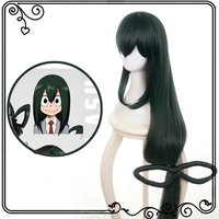 My Hero Academia Cosplay Wig Asui Tsuyu Costume Party Lace Hair For Coser