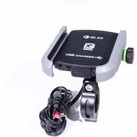 Motorbike Phone Charger Clamp Rotatable Cellphone Mount For Motorcycle