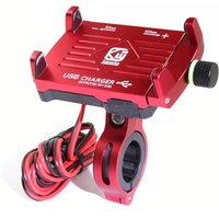 Multi Function Motorbike Phone Clamp With Charging Mode 2.5A 360 Degrees Rotation Range