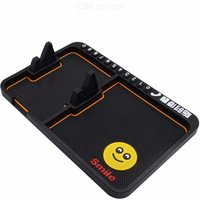 28 X 18.5cm Cartoon Sticky Gel Pad Anti-slip 2 Compartment Cell Phone Holder For Vehicles