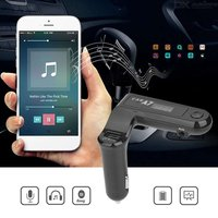 Quelima A7 Car Bluetooth Hands-free Phone Car Card MP3 Player Car FM Transmitter with 2.1A Car Charger