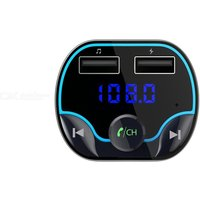 Quelima T24 FM Transmitter Fast Charging Voice Navigation Car Hands-Free Phone Bluetooth MP3 Player