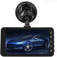 Quelima Touch Screen 4 Inch Driving Recorder HD Dual Lens 1080P Front And Rear Double Recording Car Reversing Image Recorder