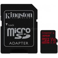 Kingston Ultra microSD SDCR with SD Adapter (Class 10) UHS-1 U3 V30 A1 Support 4K 32GB/64GB/128GB