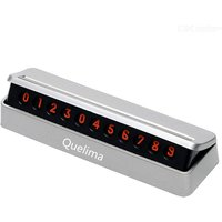 Quelima Temporary Parking Number Plate Concealed Car Mobile Phone License Card DIY Moving License Plate