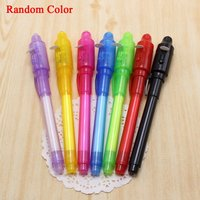 Invisible Ink Pen Spy Marker With UV Light Random Color