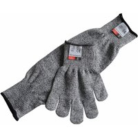 Grey Long Sleeve Protective Work Gloves Resistant Level 5 Slash Resistant Cutshield With Thumb Hole