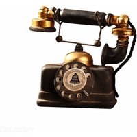 Retro Telephone Model, Coffee Living Room Decoration Crafts Made To Be Old And Dirty