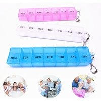 Transparent Plastic 7 Grids Pill Box Portable Weekly Tablet Medicine Storage Case For Home Travel