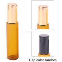 10ML Essential Oil Bottle Amber Glass Roller Cosmetic Container