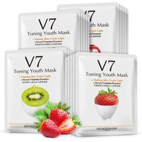 V7 Natural Fruit Extract Facial Mask Hydrating Face Skincare Masks Firming Brightening Skin