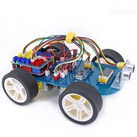 OPEN-SMART 4WD Serial Bluetooth Control Gear Motor Smart Car Kit Easy-Plug Colorful XH 2.54mm Socket for Arduino UNO R3