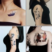 Waterproof 3D Temporary Tattoo Sticker Unisex Removable Body Art Stickers Non-Toxic Fake Tattoos