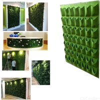 Vertical Wall Planting Bags 9/18/36/49/64 Pockets Garden Flowers Growth Hanging Planter, Garden Green Plants Living Container