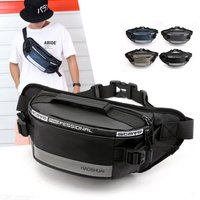 Fashion Waist Pack With Reflective Sign Casual Messenger Bag For Outdoor