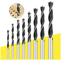 3-10mm 8Pcs 3-pointed Woodworking Drill Plank Punching Bit Wood Board Reamer Tool Set