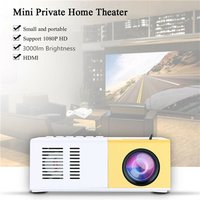 J9 Mini Projector 3000 Lumen 1080P HD Projector 0 - 60 Inch Ultra Portable Pico Projector Support Cell Phone - EU Plug