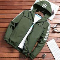Male Casual Hooded Jacket Mens All-match Sports Coat