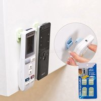 1Pair Sticky Hook Set TV Air Conditioner Remote Control Key Practical Wall Storage Plastic Hooks Holder Strong Hanger