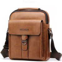Men's Messenger Bag PU Leather Shoulder Bag Crossbody Bag Handbag