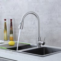Kitchen Sink Faucet 304 Stainless Steel Single Handle High Arc Pull-out Kitchen Sink Mixer Tap Cold Hot Water Available Faucet