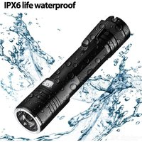 Portable LED Flashlight  Rechargeable Zoomable Waterproof Pocket Light Torch For Camping Hiking