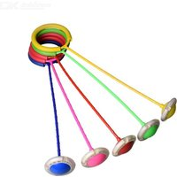 Flashing Jumping Ring Children Colorful Ankle Skip Jump Rod Sports Swing Ball For Kids