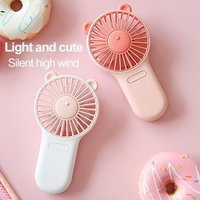 Portable Fan Mini USB Handheld Fan Ultra Slim Personal Fan With 3 Settings Lights