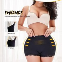 Meilun A199B Lace Trim Body Shaper High Waist Corset Shaping Pants Hip Lifting Beauty Underwear (with Hip Pad)