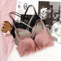 Sexy Lace Bra For Women High-end Comfortable Light Thin Wirefree Padded Bra Push-Up Bra For Evening Dress Everyday Wear