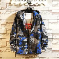 Men Fashion Camouflage Jacket Casual Hooded Zipper Jacket Coat For Spring Autumn
