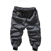 Mens Solid Color Harem Pants Loose Casual Trousers