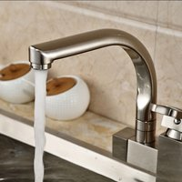 F-0522N Brass Brushed Pull-out/Pull-down 360 Degree Rotatable One-Hole Kitchen Faucet with Ceramic Valve, Single Handle
