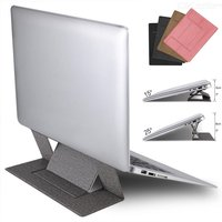 Laptop Stand Height-and-Angle Adjustable Cooling Ventilated Laptop Riser Holder Foldable Portable Self-adhesive Notebook Mount