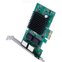 PCIe Gigabit Dual Port NIC Network Server LAN Adapter Card with Intel 82575/10/100/1000 Mbps for Desktop PC