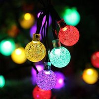 Garden Solar String Lights LED Crystal Ball Decorative Lights 33ft Waterproof Outdoor Fairy Lights for Patio Yard Christmas