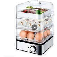 Household Electric Multifunctional Egg Cooker for up to 8 Eggs Boiler Steamer Cooking Tools Kitchen Three layers