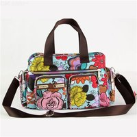 2020 Korean Style Cartoon Printing Handbags Messenger Bags Casual Travel Bags With Multiple Pockets Flower Printing Shoulder Bag