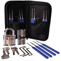 Stainless Steel Multitool Lock Set Unlocking Locksmith Practice Tool Set Key Extractor 20pcs
