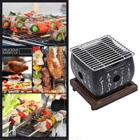 Barbecue Reusable Tools Outdoor BBQ Grill Camping Cooking Patio Charcoal Accessories Plate Portable Household Aluminium Alloy