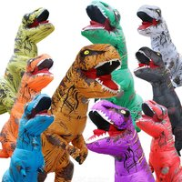 T-rex Halloween Dinosaur Suit Inflatable Dinosaur Costumes Festive Cosplay Apparel Holiday Party Dress  Blow Up Jumpsuit