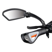 Hafny MR080 (Left / Right) Bicycle Rearview Mirror Adjustable Stainless Steel Foldable Durable Frame Impact Resistance