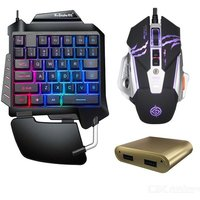 Full Set Keyboard Mouse Combos Gaming Backlit One-Handed Wired Game Controller Keyboards For Table Desktop PC