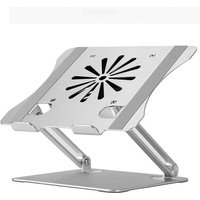 Newest Adjustable Laptop Stand with Cooling Fan, Aluminum Computer Stand Laptop Holder, Heavy Duty Laptop Riser with Slide-Proof