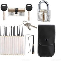 Locks practice unlocking key extractor padlock unlocking tool set 15 pieces + 2 locks