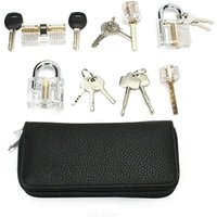 Locks practice unlocking key extractor padlock unlocking tool set 24 pieces + 5 locks