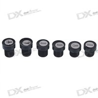 2.8mm~16mm Fixed IRIS Lens for Security Cameras - Black (6-Lens Pack)